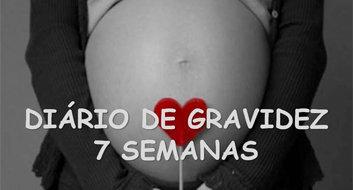 Gravidez de 7 semanas e os movimentos do bebe