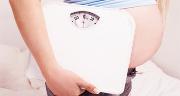 Ganho de peso durante a gravidez.