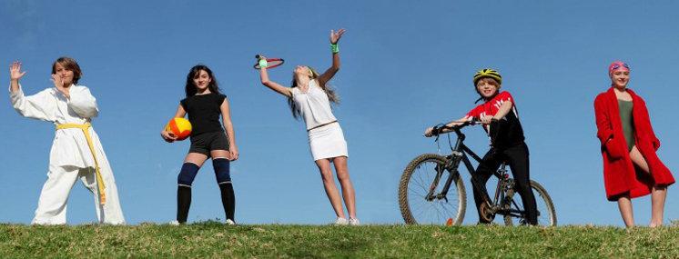 Exercícios para as crianças com excesso de peso.